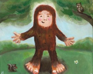 Little Bigfoot Illustration
