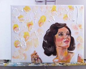 Marion Cotillard Painting