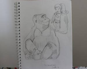 Cosi & Etta the Gorilla Sketch
