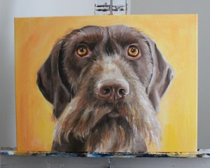 Wintston the Dog Portrait